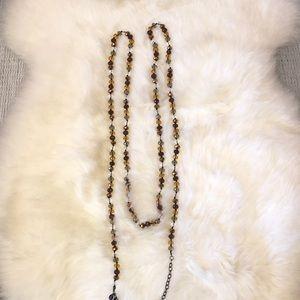 Multifaceted gem necklace